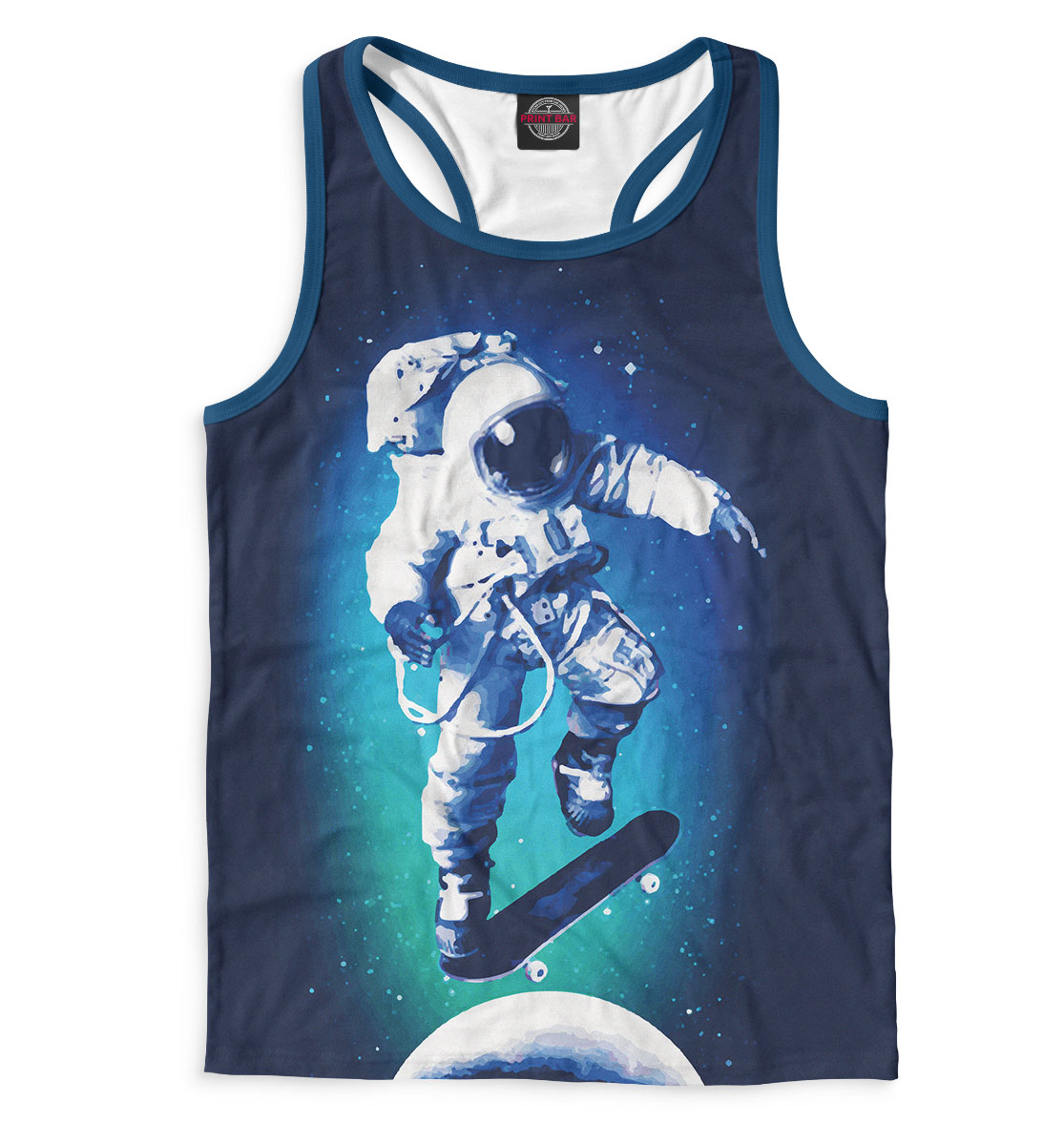 Купить Космонавт-скейтер, Printbar, Майки борцовки, SKT-954816-mayb-2