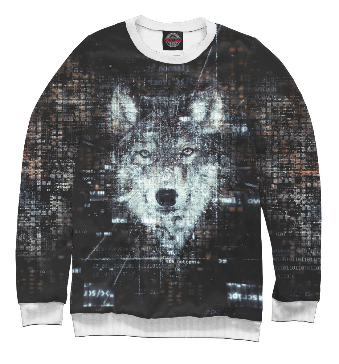 Купить Lonely Virtual Wolf, Printbar, Свитшоты, VLF-301586-swi-2