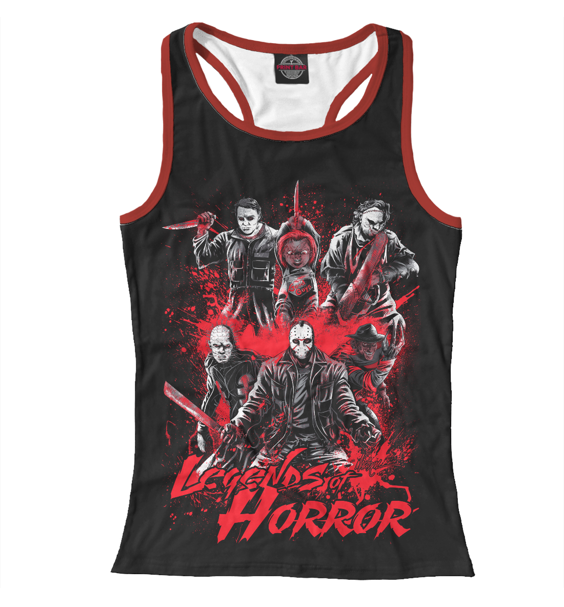 Купить Legends of Horror, Printbar, Майки борцовки, HOR-202341-mayb-1