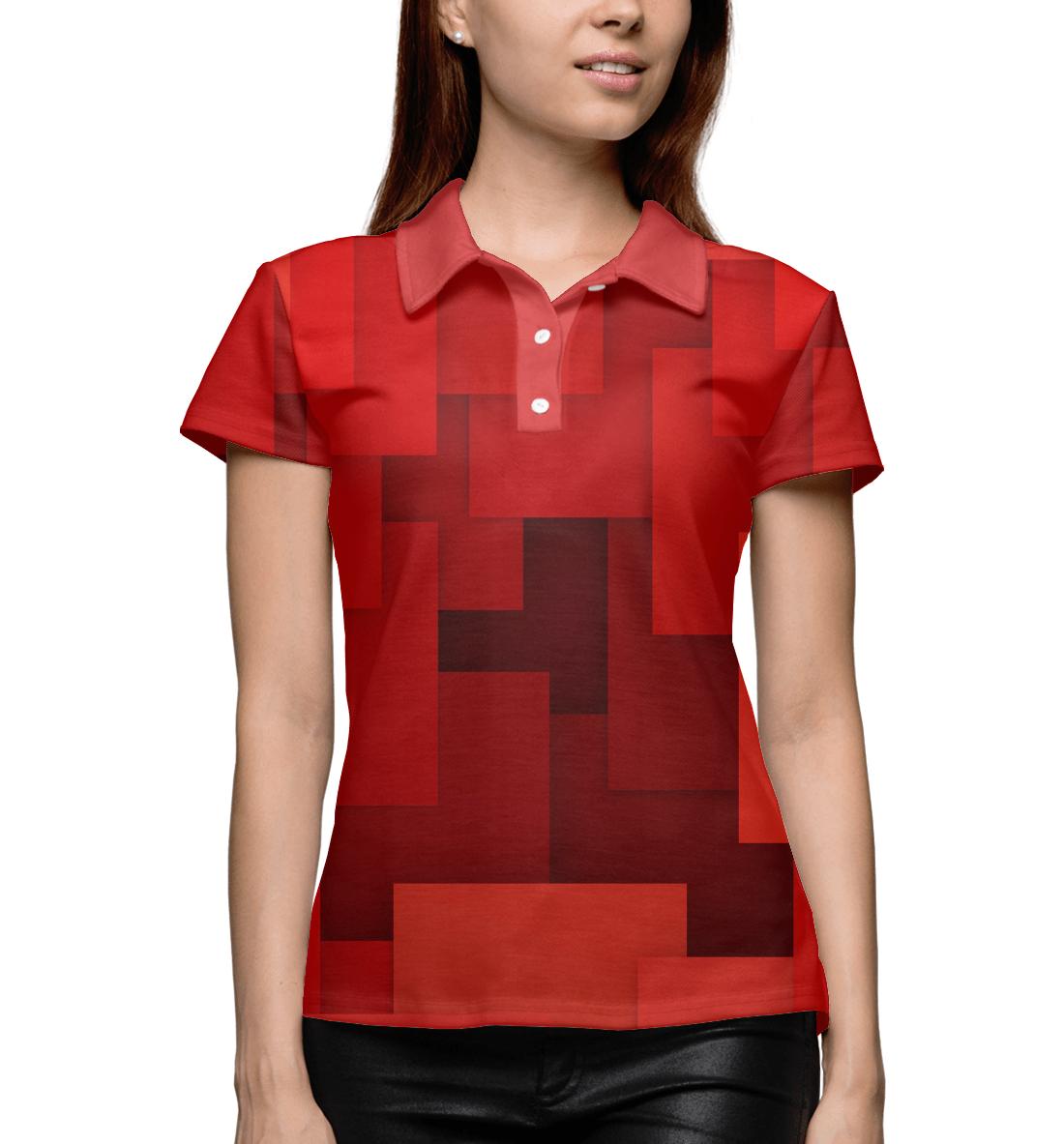 Купить Красная геометрия, Printbar, Поло, GEO-145270-pol-1