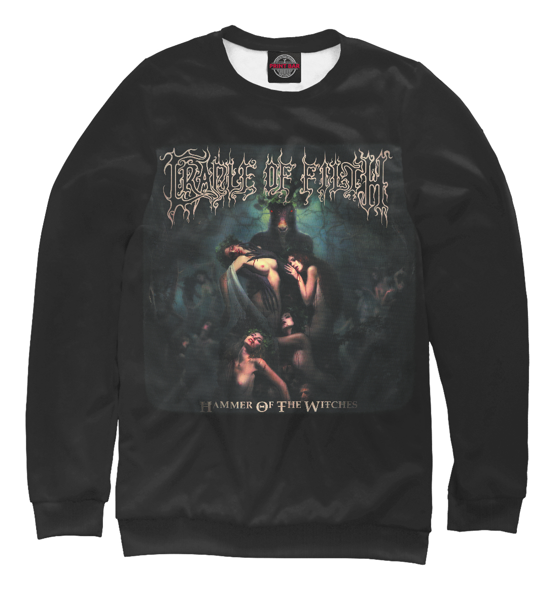 Купить Cradle of Filth: Hammer of the Witches, Printbar, Свитшоты, MZK-275721-swi-1