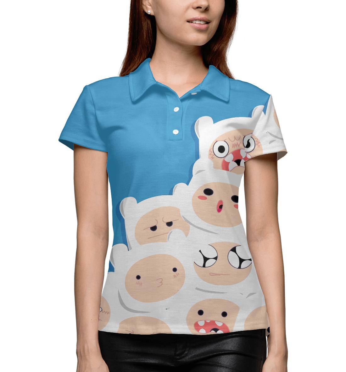 Купить Adventure Time Finn, Printbar, Поло, ADV-125246-pol-1