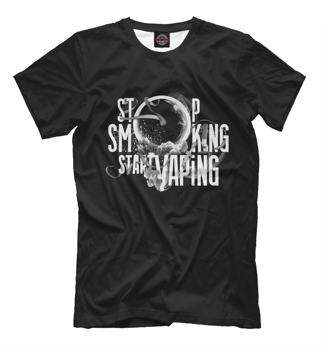Купить Stop Smoking Start VAping, Printbar, Футболки, APD-315512-fut-2