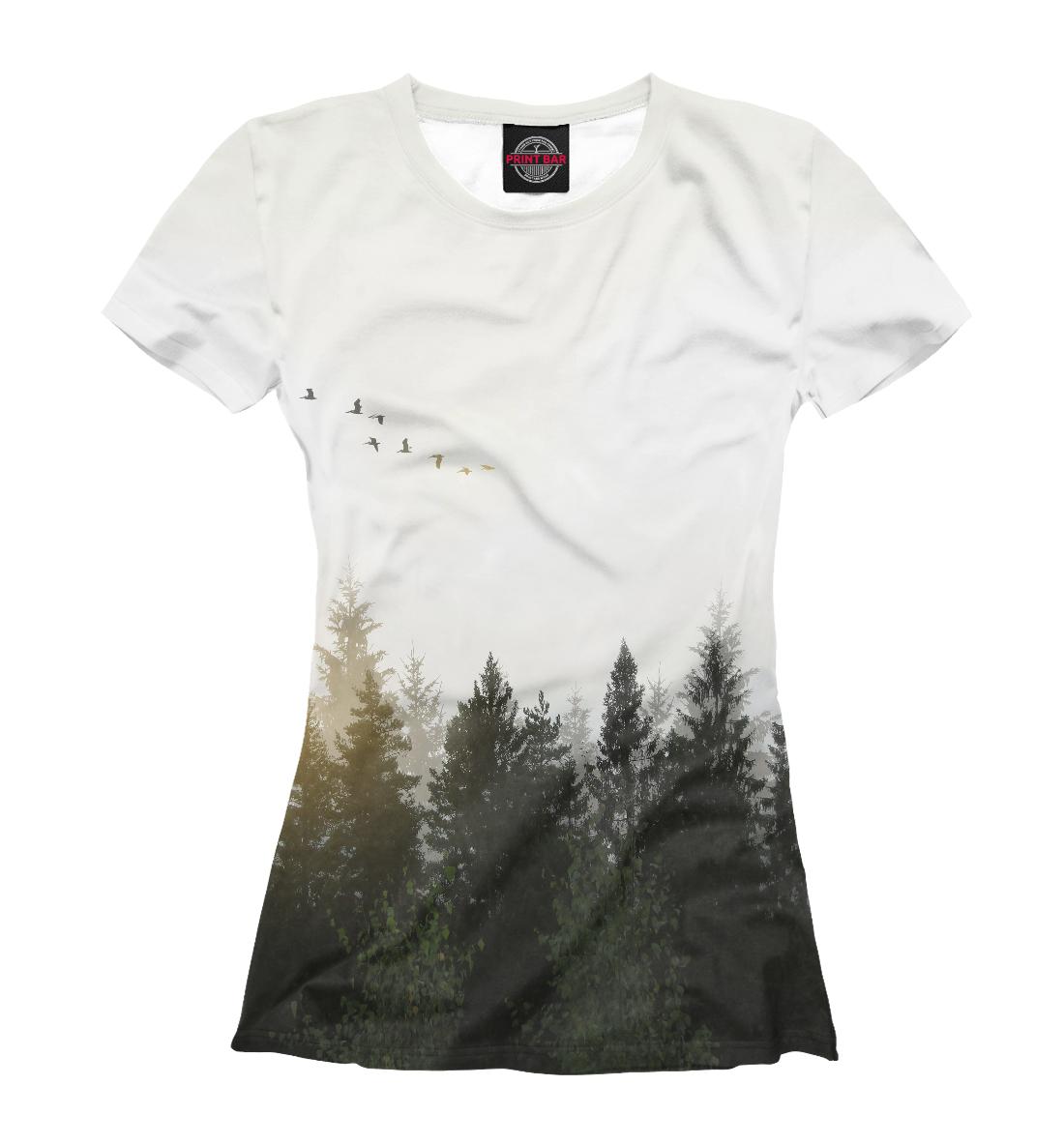 Купить Лесной пейзаж, Printbar, Футболки, PEY-328282-fut-1