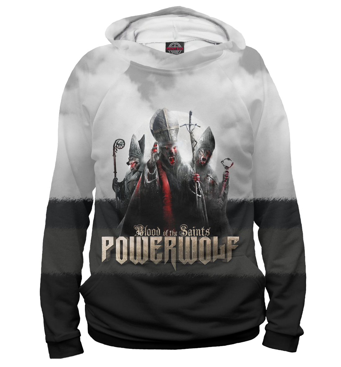 Купить Powerwolf - Blood Of The Saints, Printbar, Худи, PWF-704039-hud-1