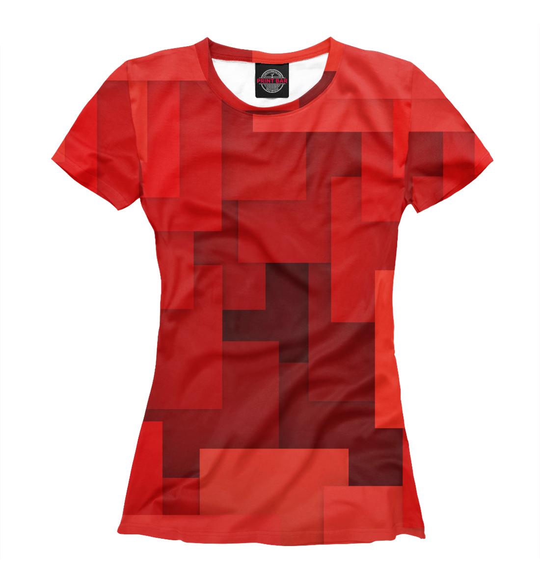Красная геометрия, Printbar, Футболки, GEO-145270-fut-1  - купить со скидкой