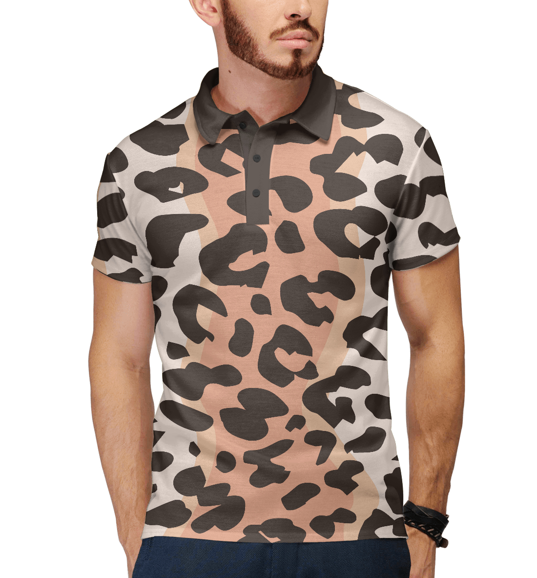 Купить Леопард, Printbar, Поло, OKR-208290-pol-2