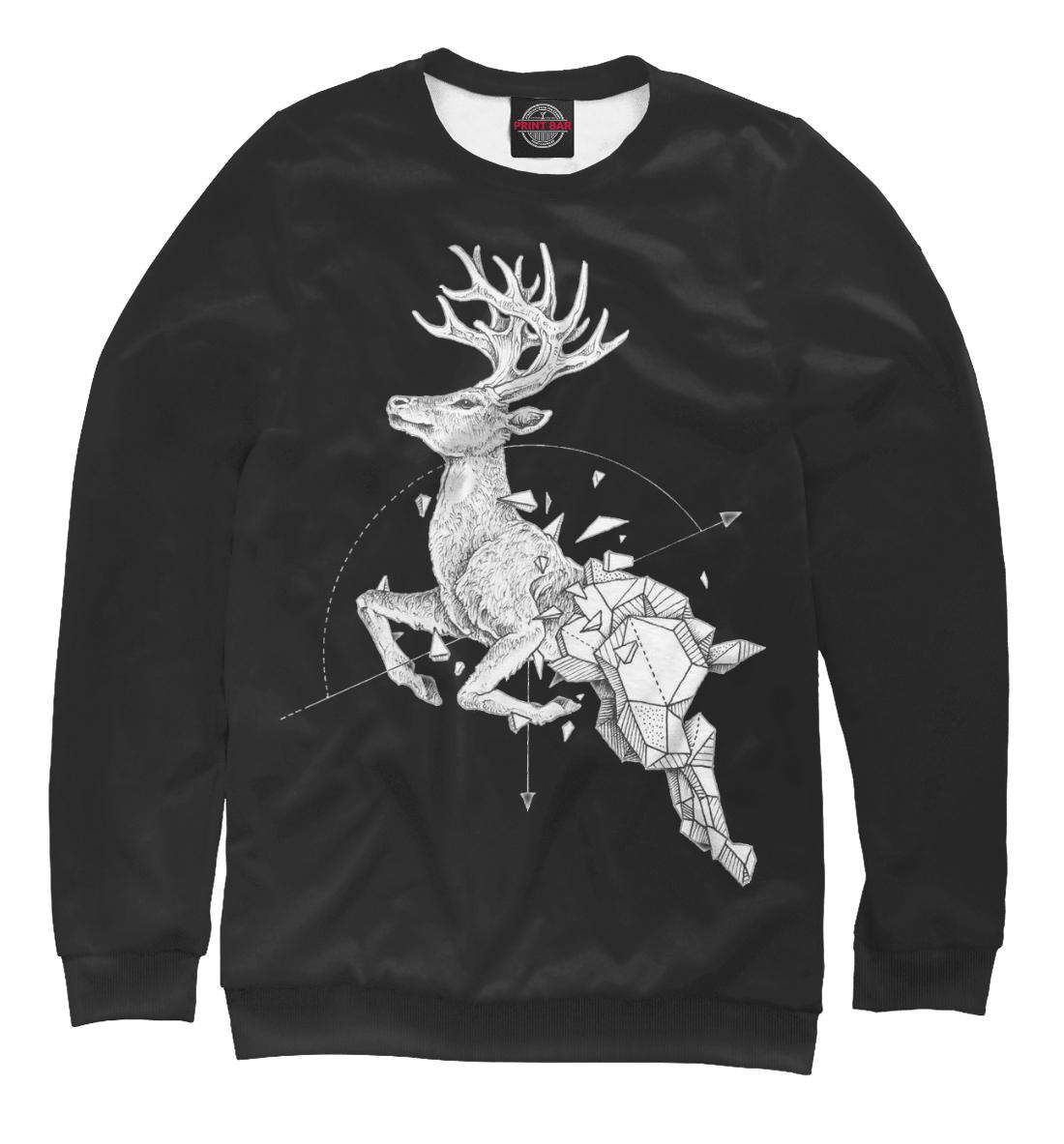 Купить Geometric dark deer, Printbar, Свитшоты, HIP-944051-swi-1