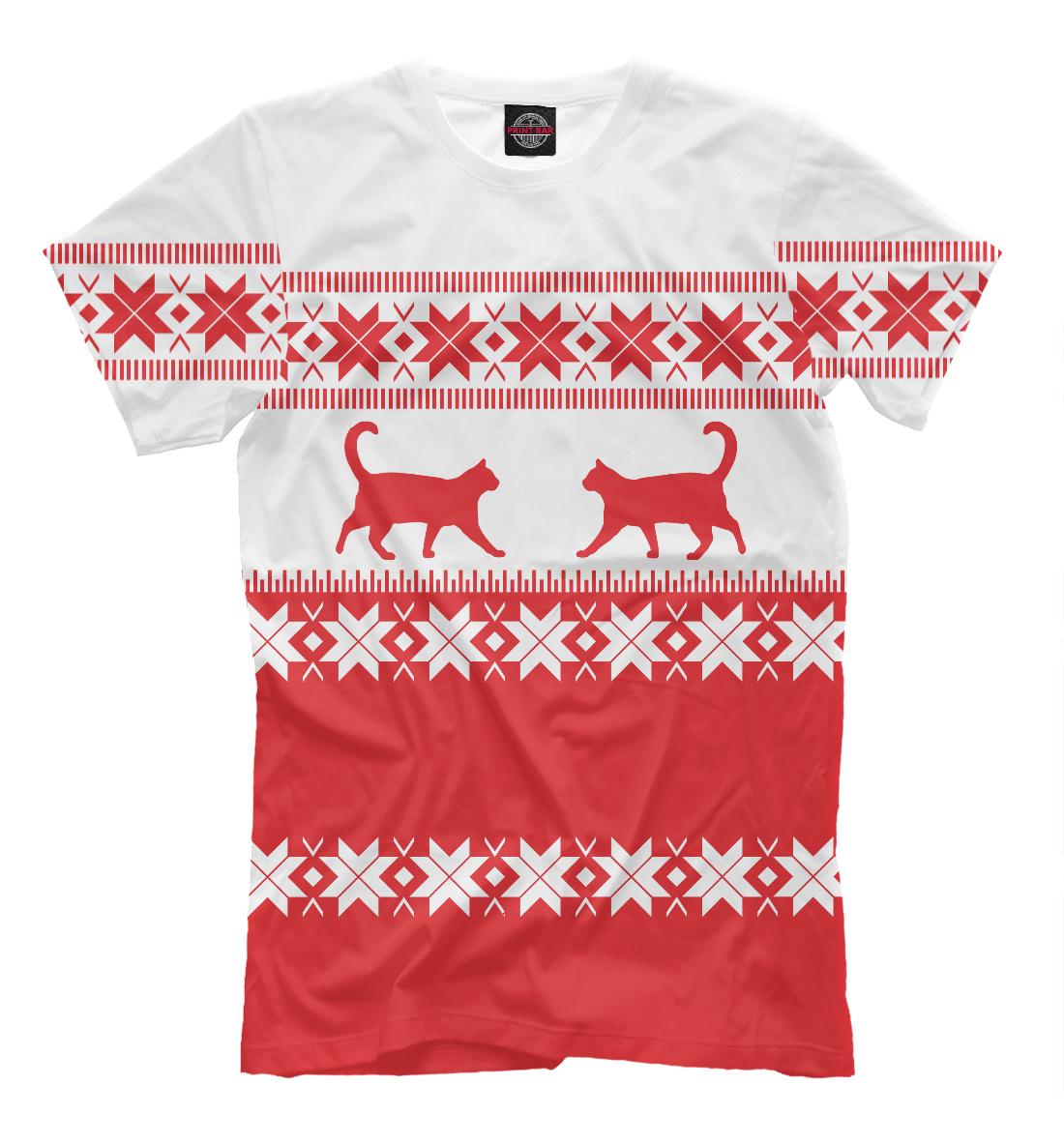 Купить Зимний свитер с котами, Printbar, Футболки, CAT-395386-fut-2
