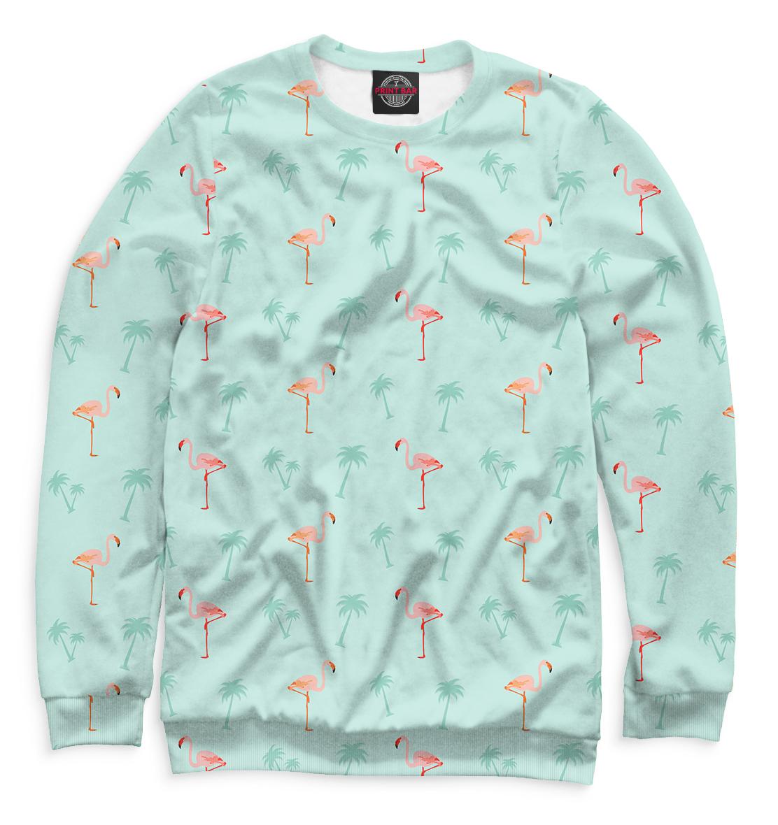 Купить Фламинго и пальмы, Printbar, Свитшоты, HIP-829342-swi-2
