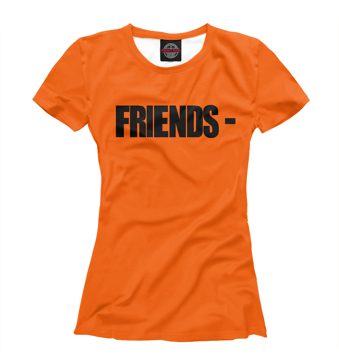 Купить Vlone Friends Orange, Printbar, Футболки, APD-577517-fut-1