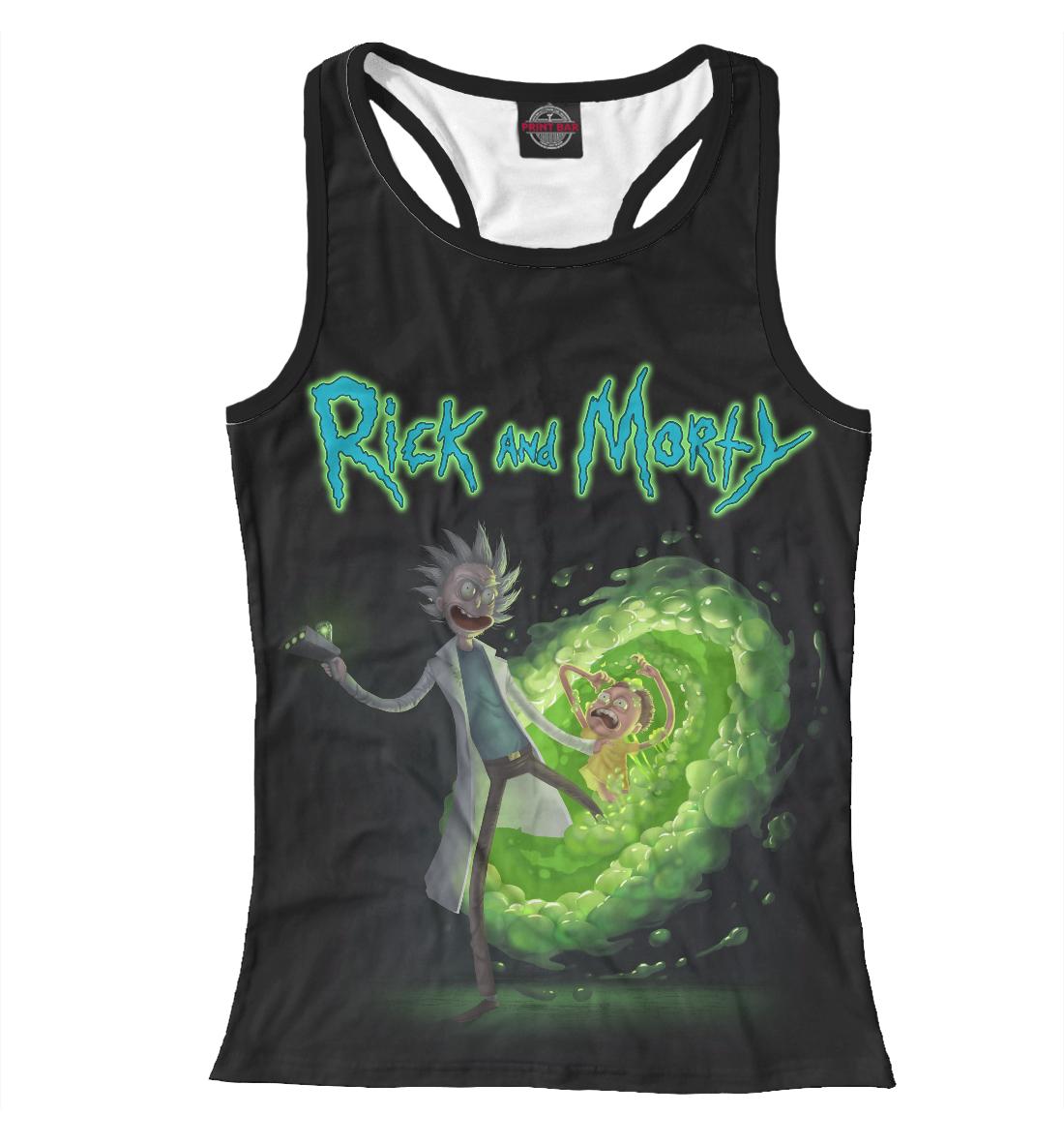 Купить Rick and Morty and 3D Portal, Printbar, Майки борцовки, RNM-675402-mayb-1