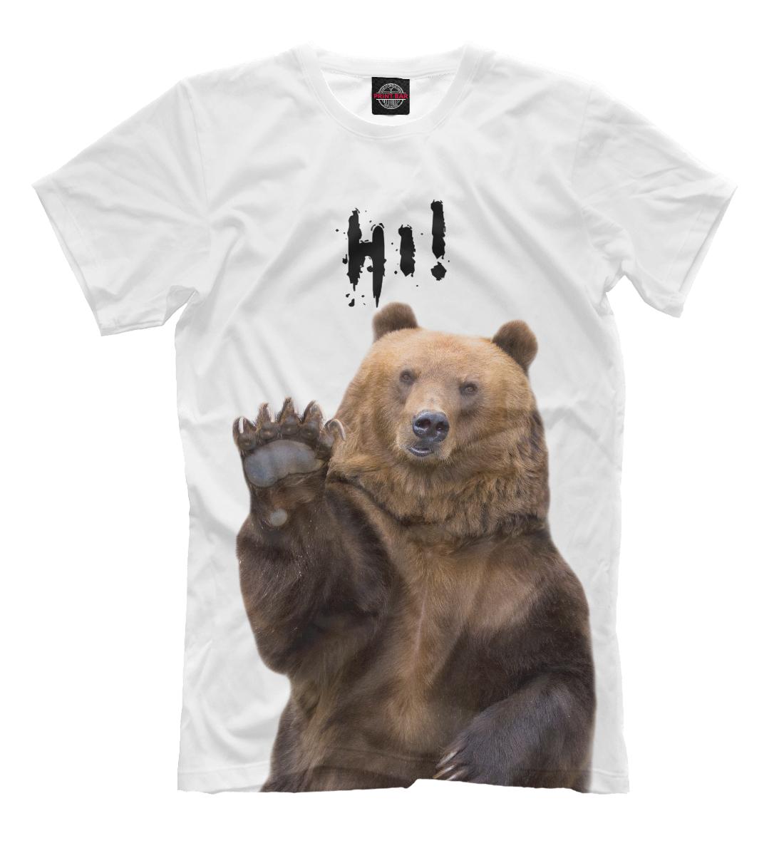Купить Русский медведь, Printbar, Футболки, MED-125308-fut-2