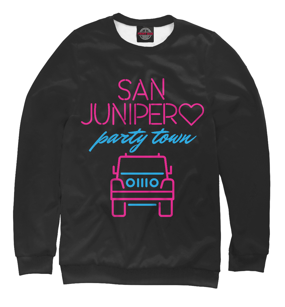 Купить San Junipero Party Town, Printbar, Свитшоты, BLM-891336-swi-1