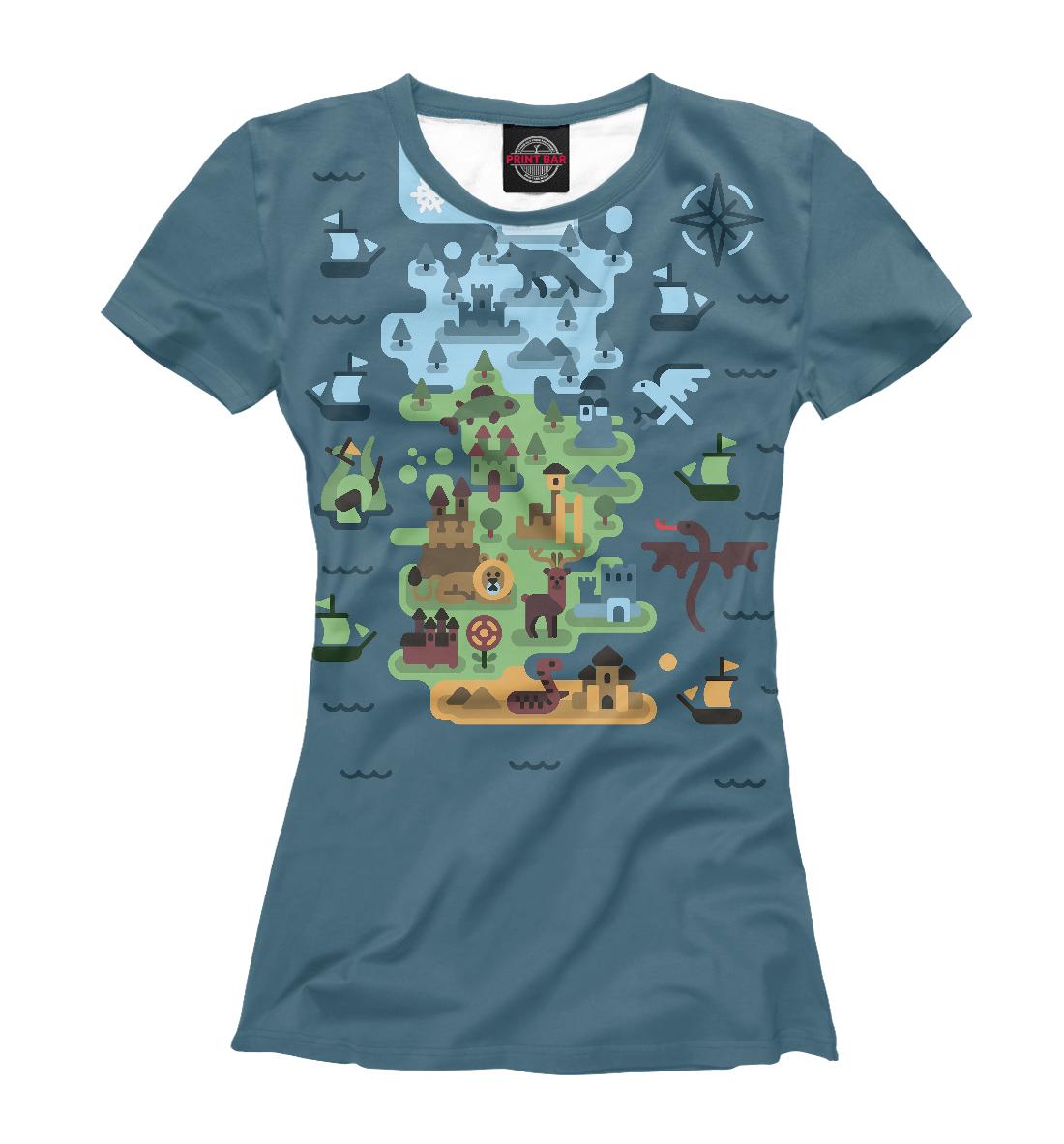 Купить Игра престолов карта 7 Королевств, Printbar, Футболки, IGR-487454-fut-1