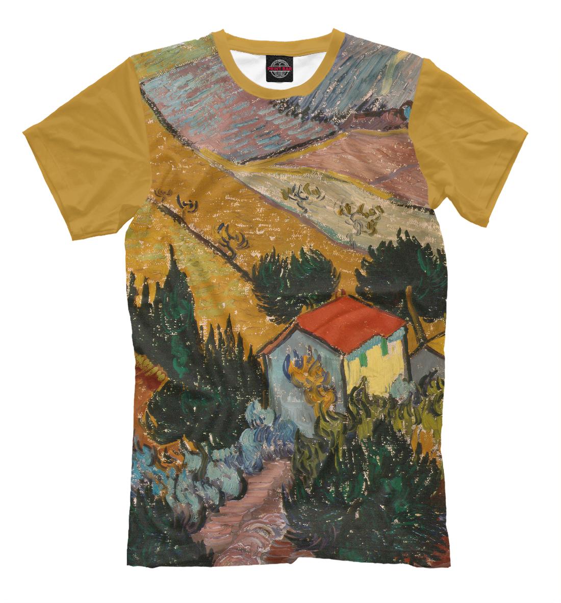 Винсент ван Гог. Пейзаж с домом и пахарь, Printbar, Футболки, GHI-200148-fut-2  - купить со скидкой