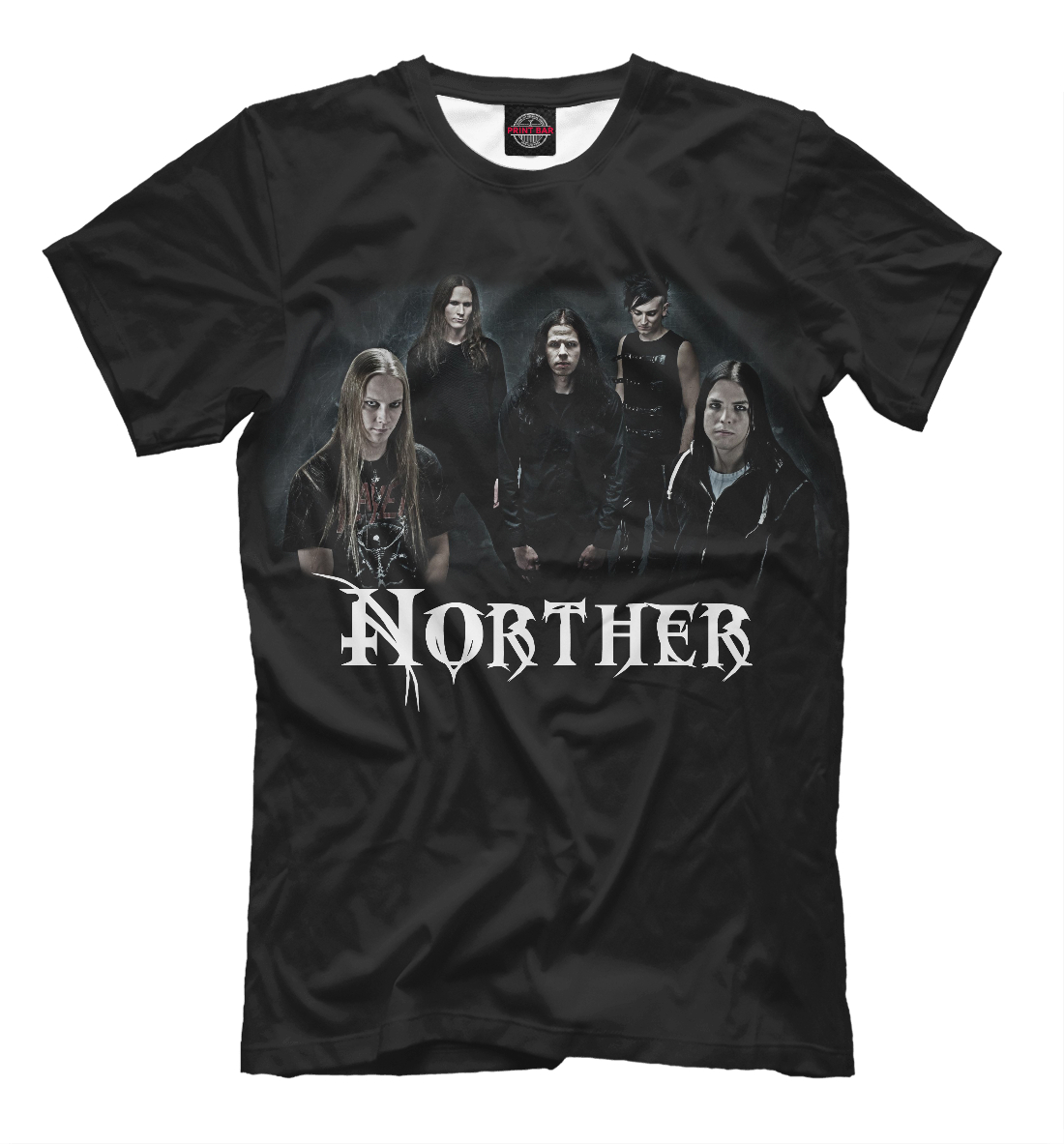 Купить Death metal группа Norther, Printbar, Футболки, MZK-229287-fut-2