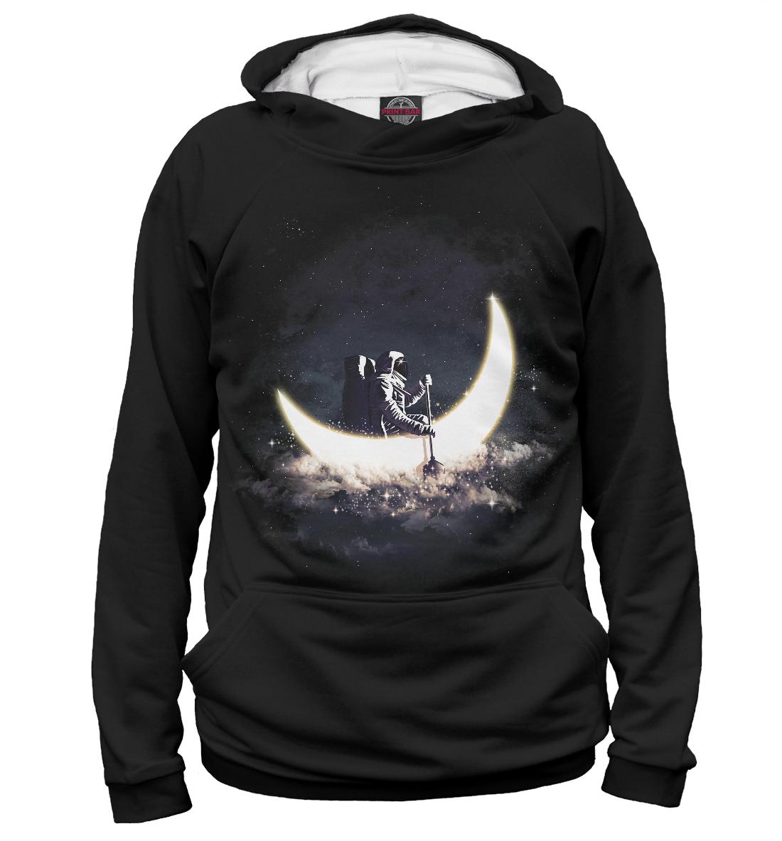 Купить Космонавт в лунной лодке, Printbar, Худи, ARC-795248-hud-1