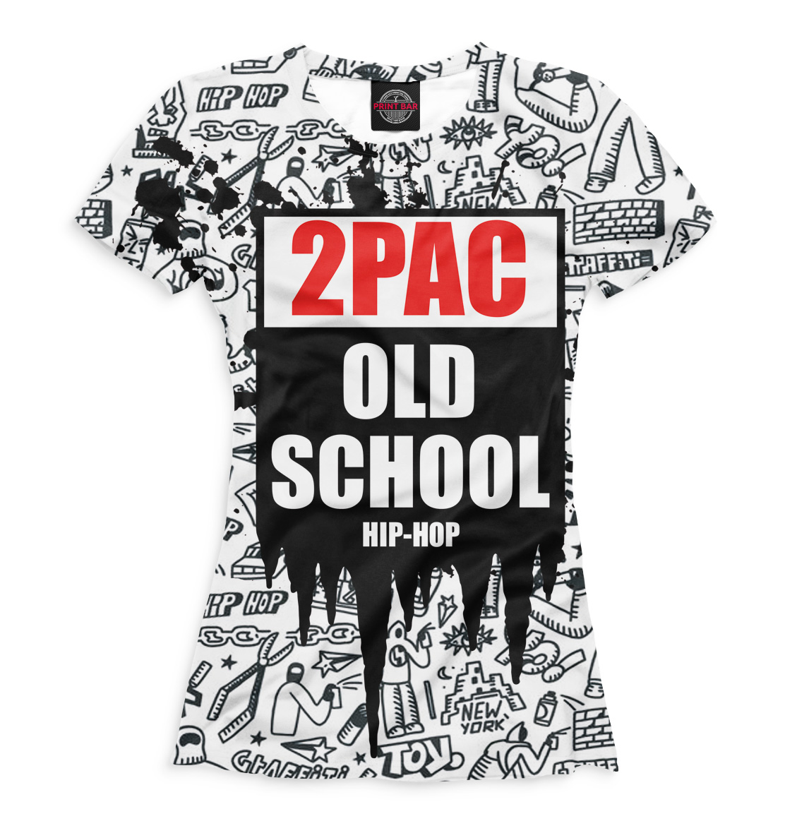 Купить 2Pac, Printbar, Футболки, 2PA-165907-fut-1