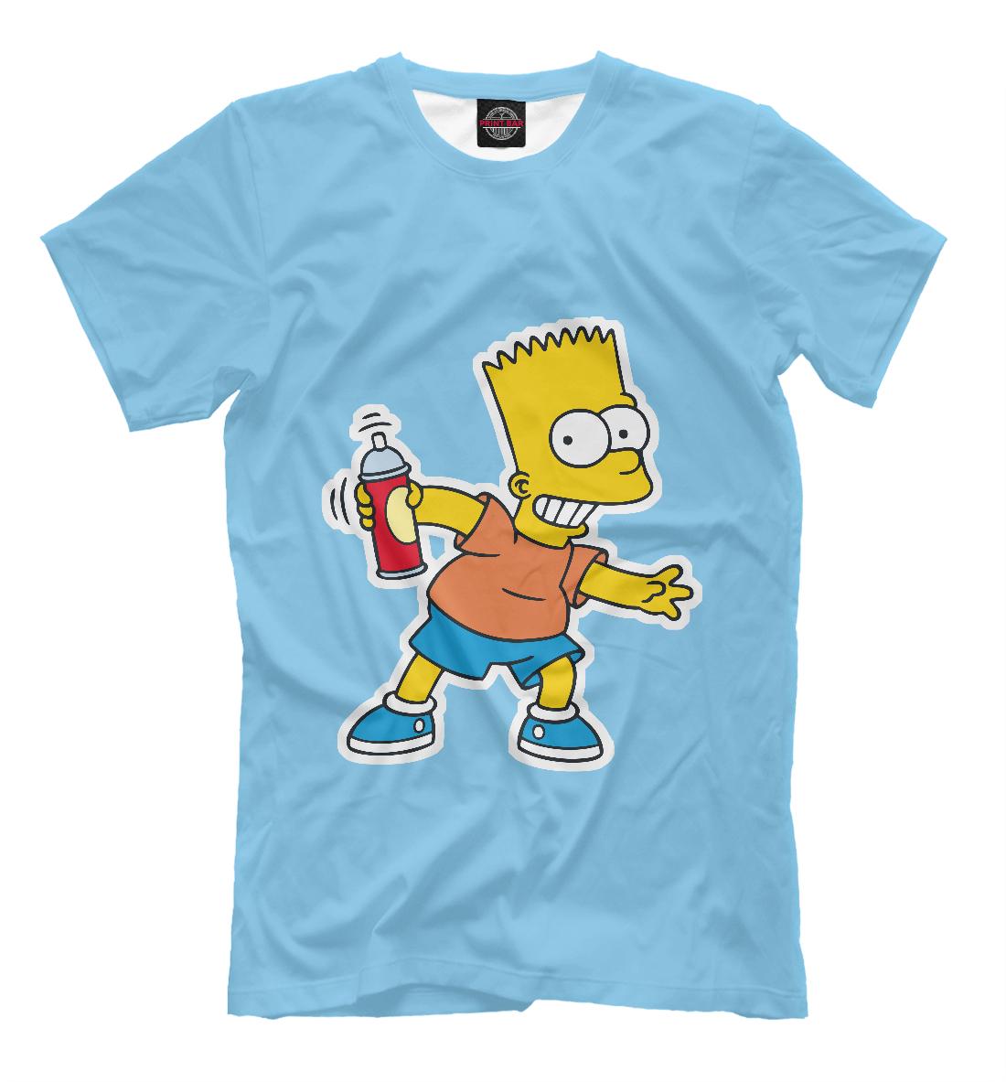 Купить Барт Симпсон с баллончиком, Printbar, Футболки, SIM-737217-fut-2