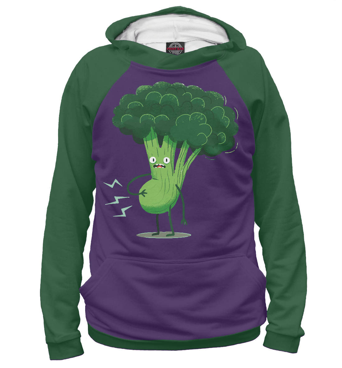 Купить Frightened Broccoli, Printbar, Худи, POP-876453-hud-1