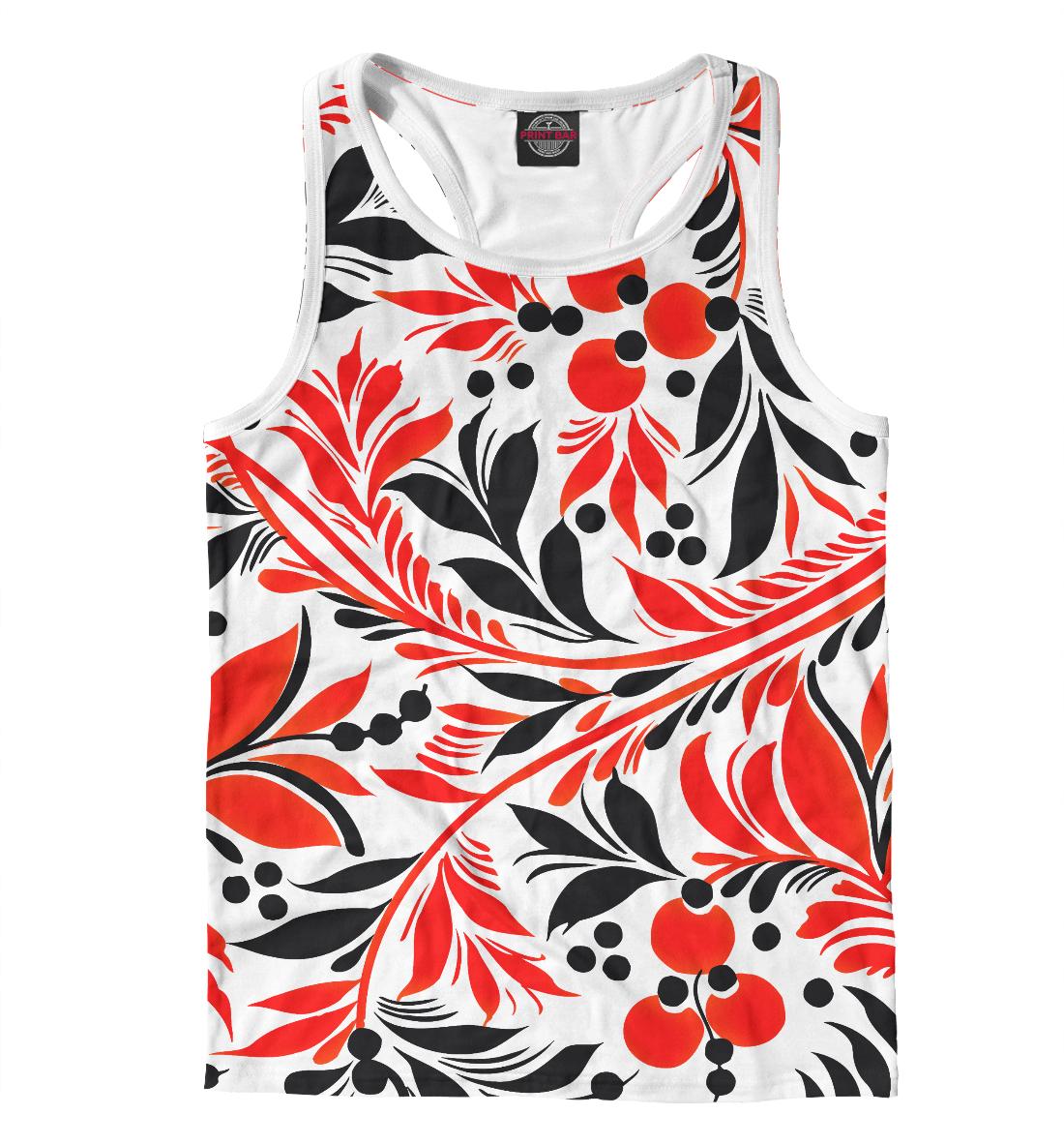 Купить Black&Red pattern, Printbar, Майки борцовки, ABS-483126-mayb-2