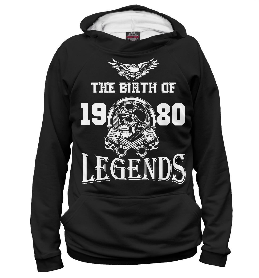 Купить Рождение легенды - 1980, Printbar, Худи, DVH-905825-hud-2