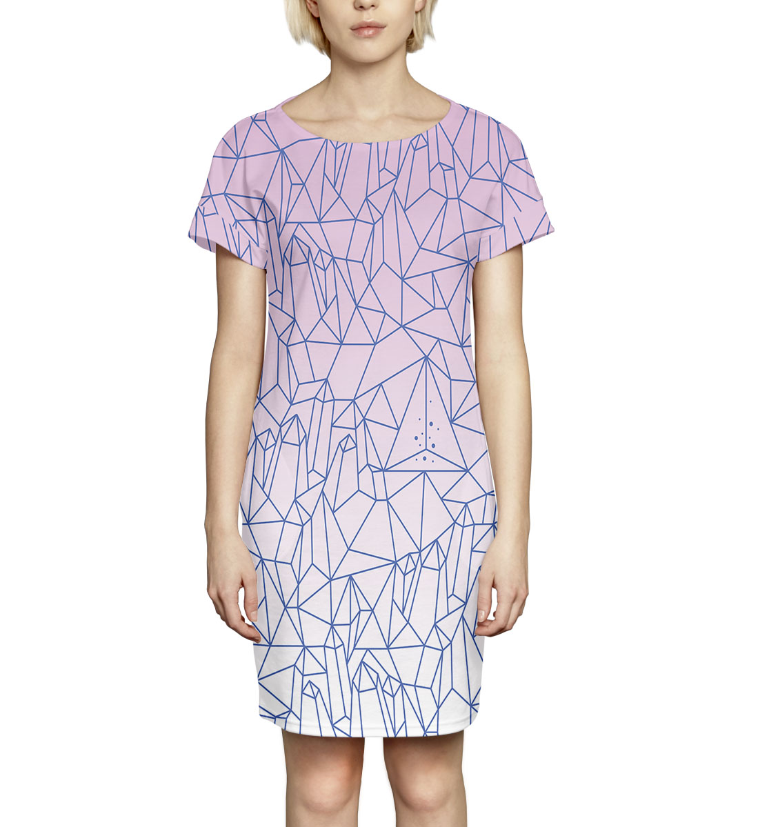 Купить Абстракция, Printbar, Платье летнее, NWT-776530-pkr-1