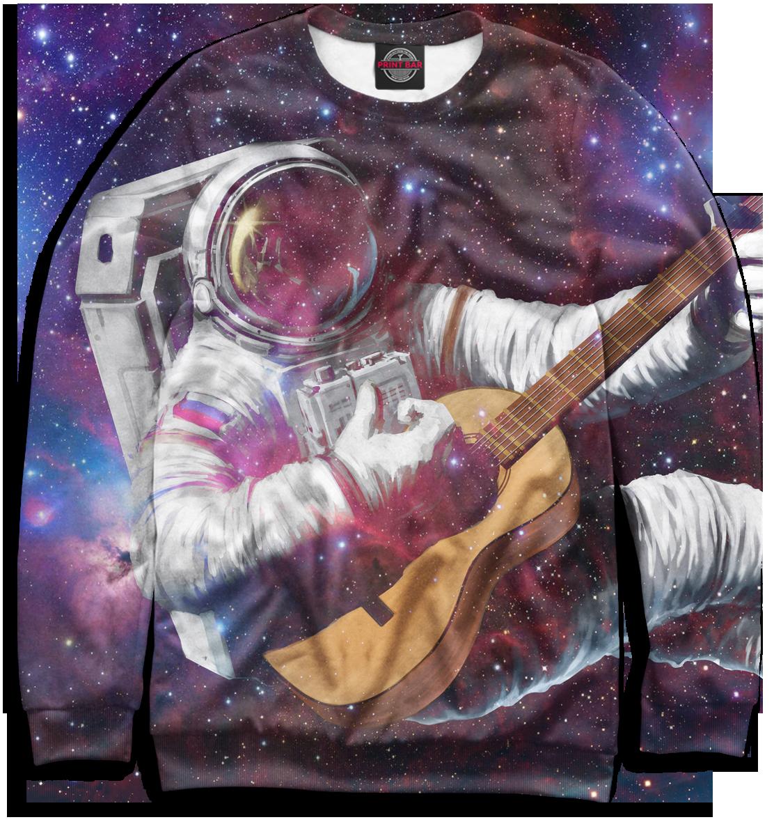 Фото - Космонавт с гитарой робот с гитарой