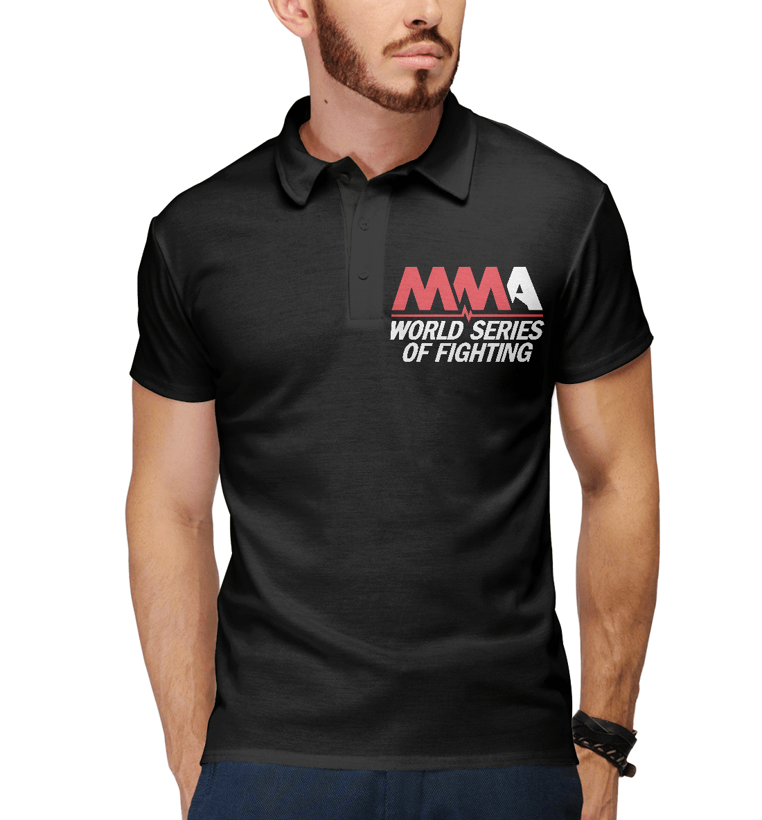 Купить MMA World Series Of Fighting, Printbar, Поло, MNU-541183-pol-2