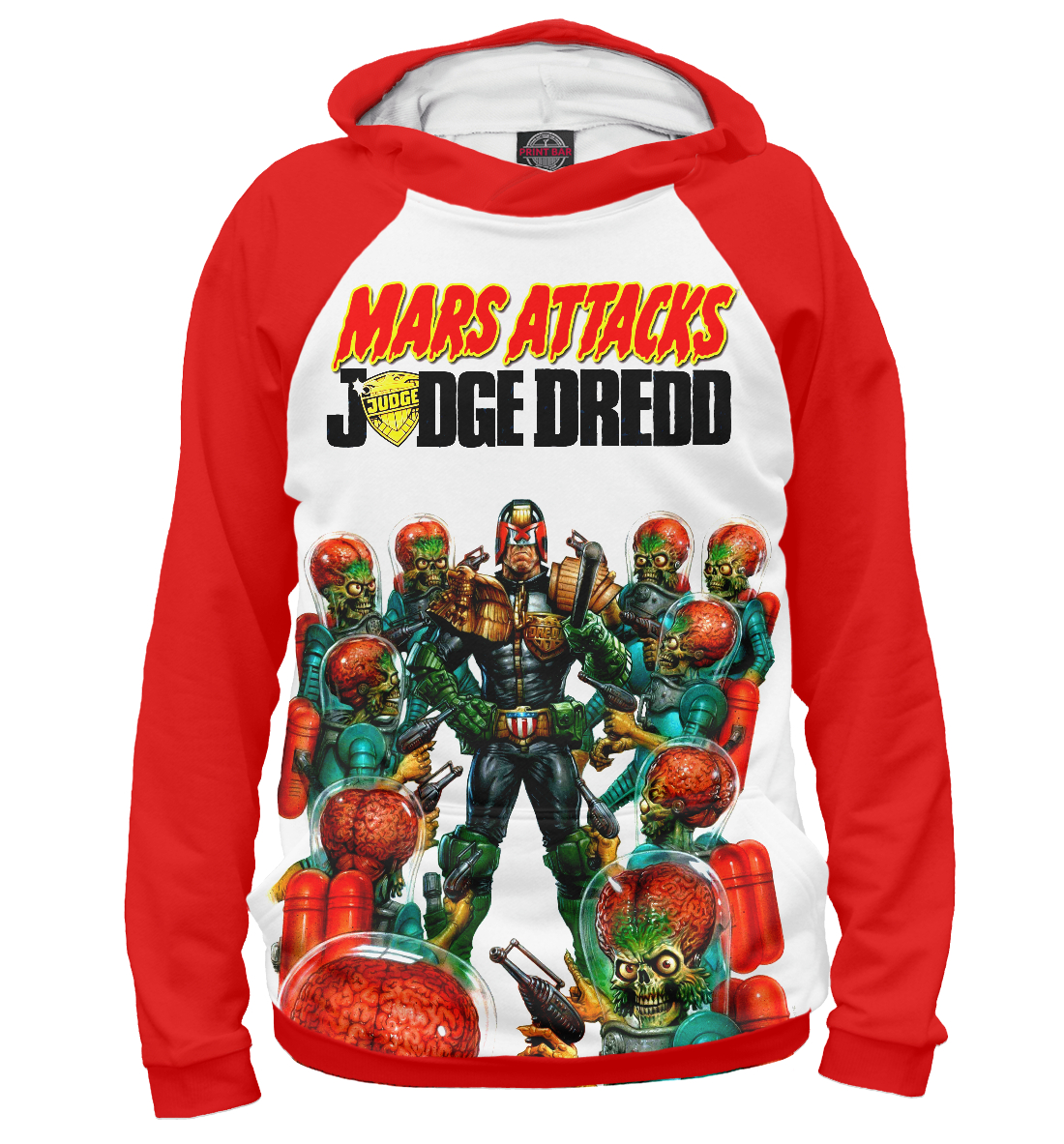 Купить Mars attacks Judge Dredd, Printbar, Худи, CMX-464028-hud-2