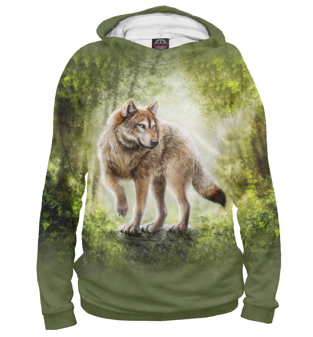Купить Волк, Printbar, Худи, VLF-660188-hud-1