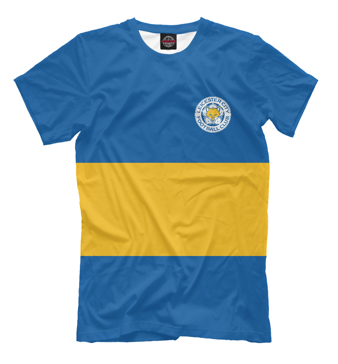 Купить Leicester City Blue&Yellow, Printbar, Футболки, FTO-730483-fut-2