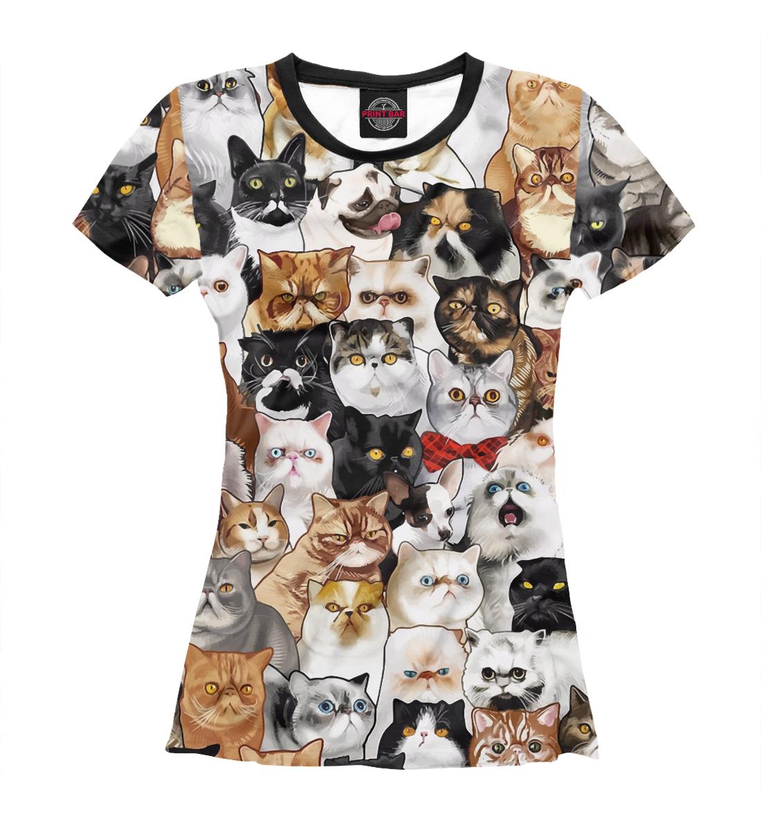 Купить Коты и Мопс, Printbar, Футболки, CAT-669180-fut-1