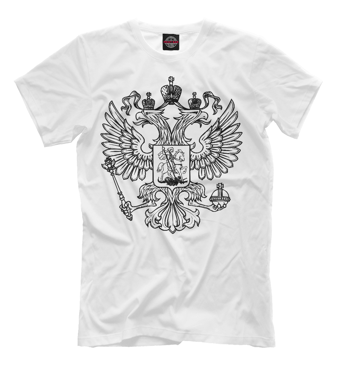Купить Герб Российской Федерации (одноцветный), Printbar, Футболки, SRF-680904-fut-2