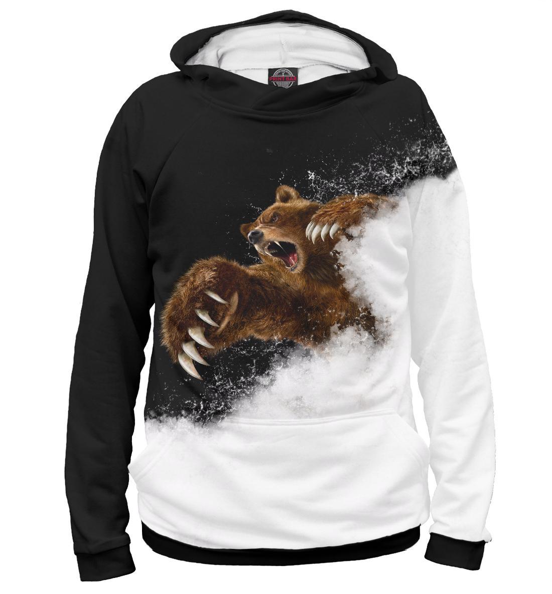 Купить Медведь в ярости, Printbar, Худи, MED-735514-hud-2
