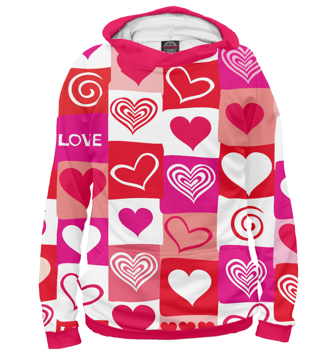 Сердца, Printbar, Худи, SRD-140792-hud-2  - купить со скидкой