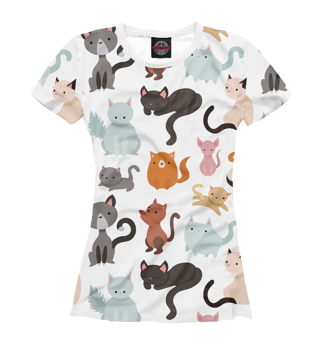 Купить Коты и кошки, Printbar, Футболки, CAT-594968-fut-1
