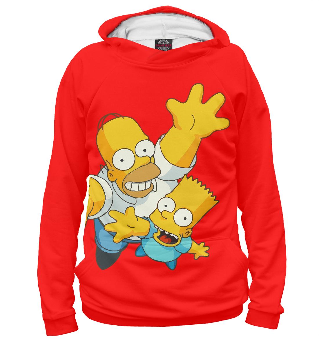 Купить Барт и Гомер Симпсоны, Printbar, Худи, SIM-470839-hud-1