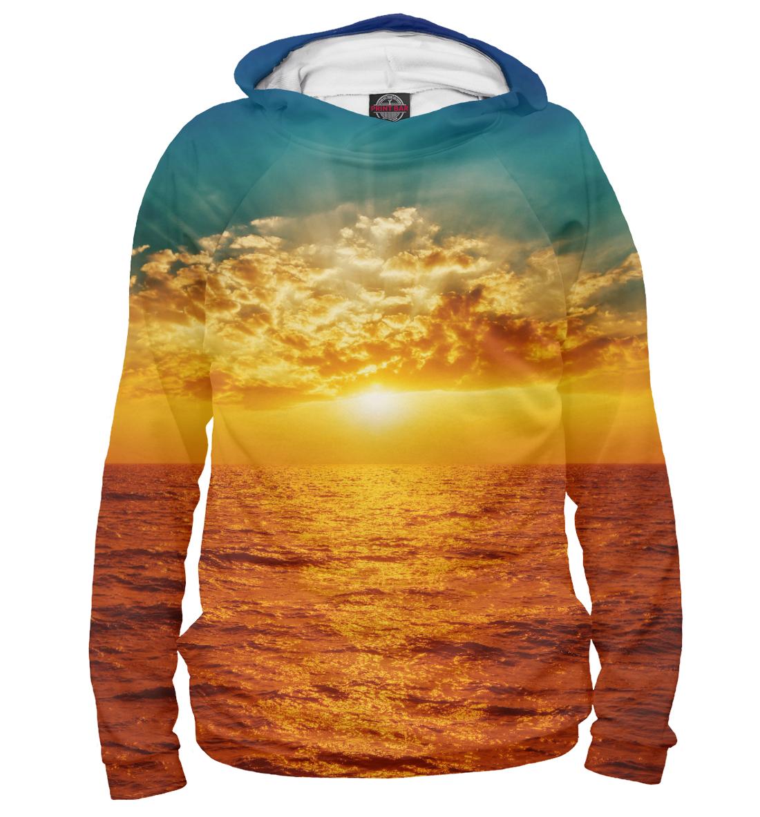 Купить Прекрасный морской закат, Printbar, Худи, MST-807617-hud-2