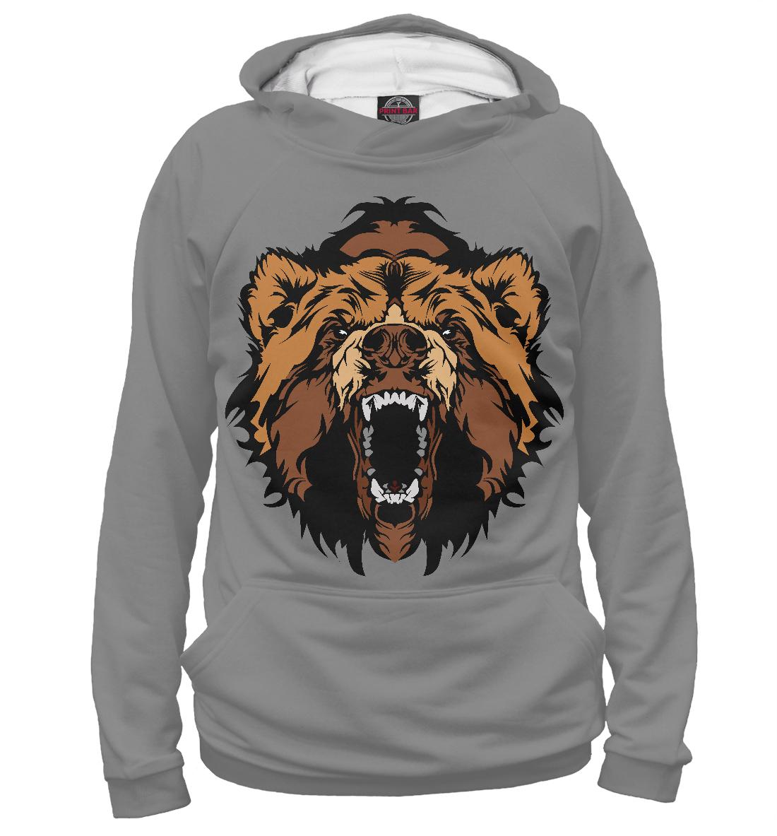 Купить Злой Медведь, Printbar, Худи, MED-793758-hud-2