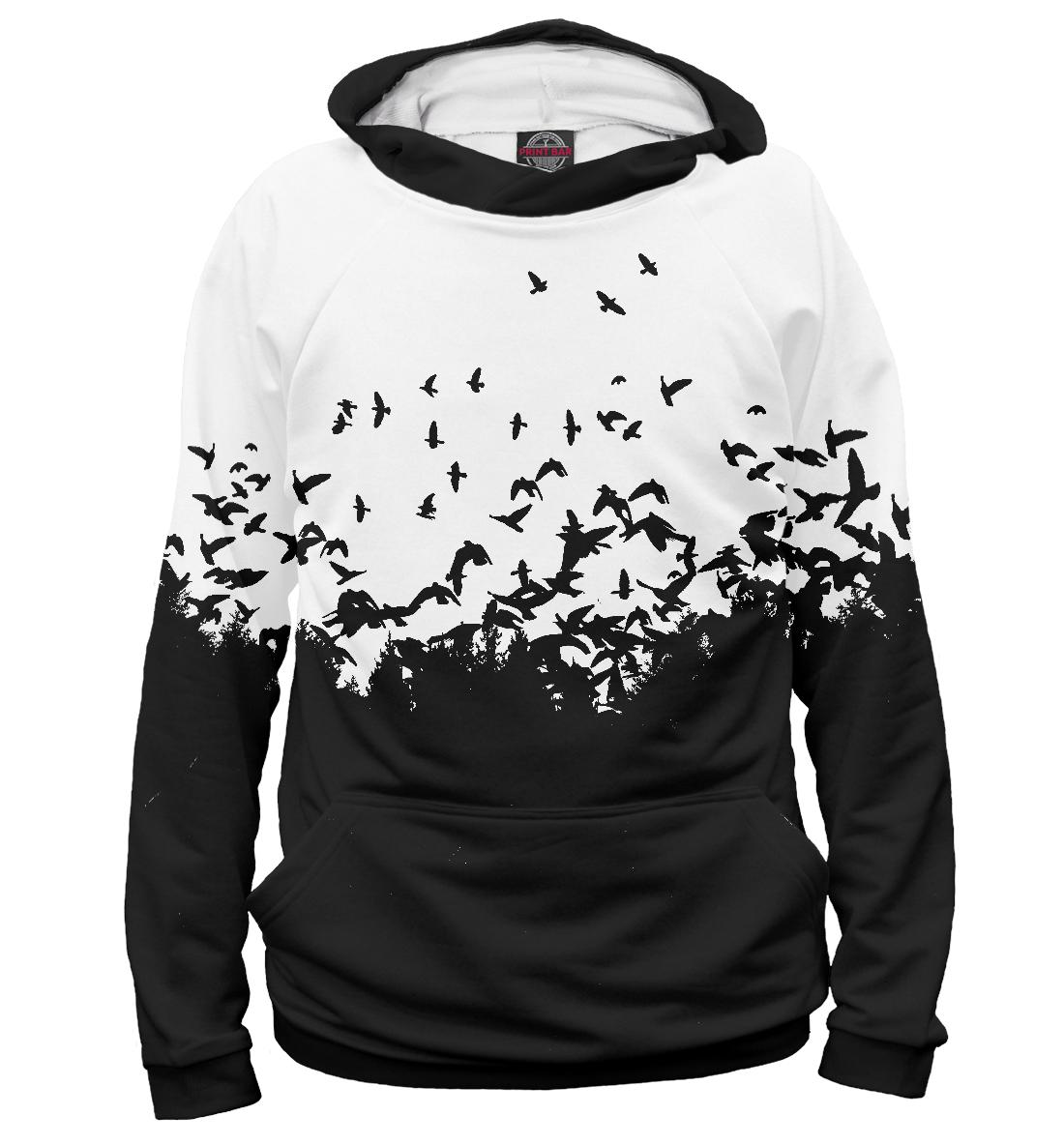 Купить Лес, птицы, Printbar, Худи, PTI-301371-hud-1