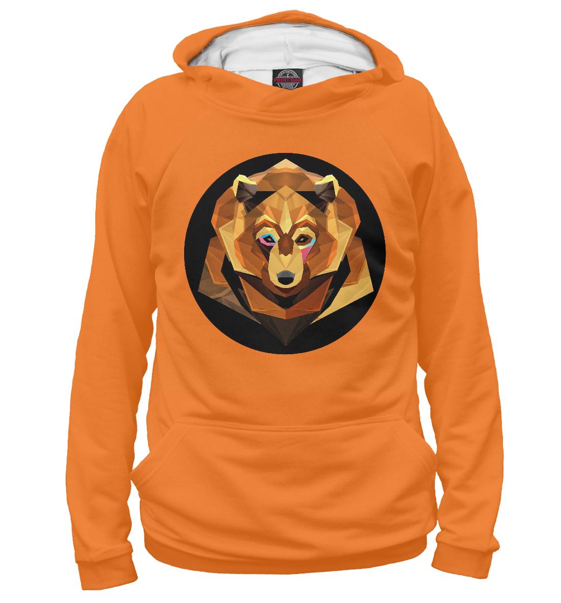 Купить Полигональный медведь, Printbar, Худи, MED-621469-hud-1