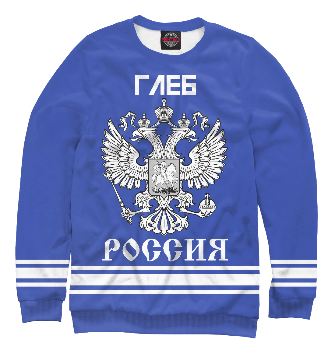 Купить ГЛЕБ sport russia collection, Printbar, Свитшоты, IMR-429031-swi