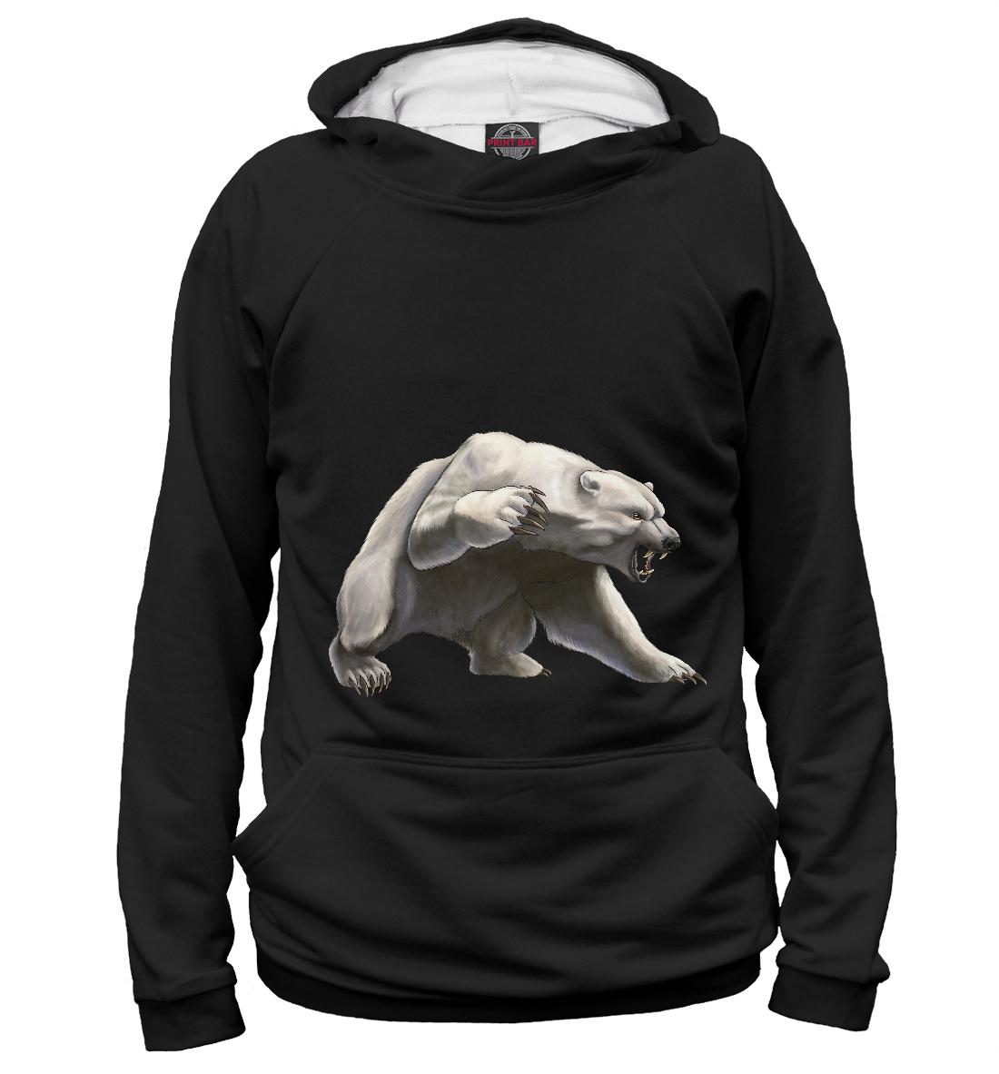 Купить Белый медведь, Printbar, Худи, MED-131013-hud-2