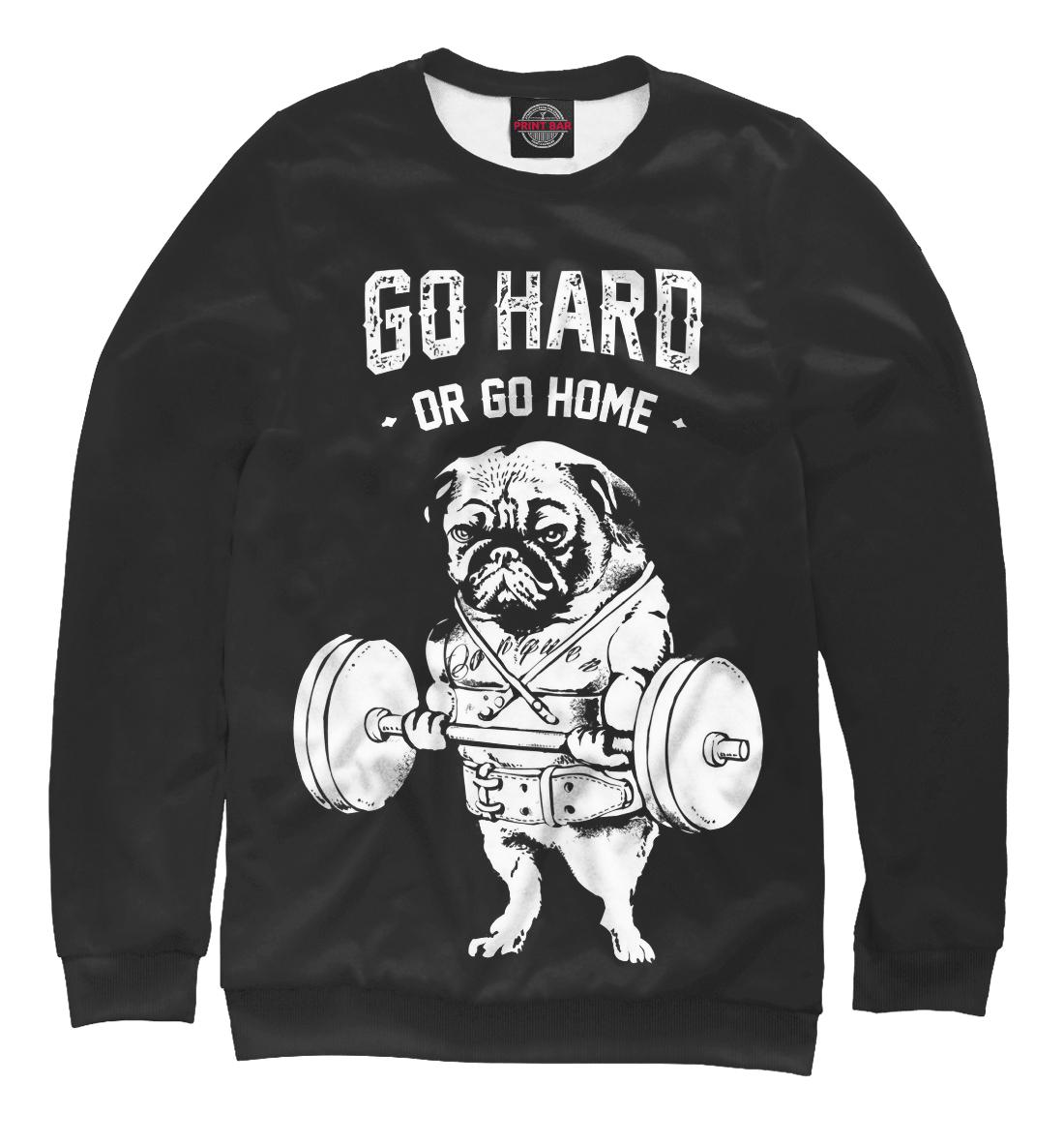 Купить Go hard or go home, Printbar, Свитшоты, FIT-147128-swi-2