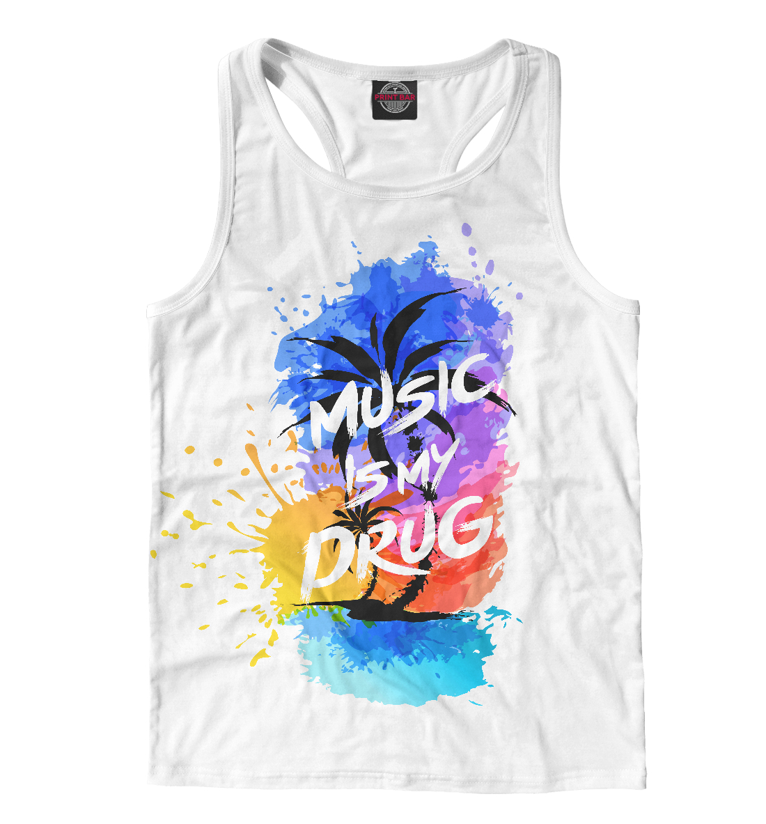 Купить Music is My Drugs, Printbar, Майки борцовки, NDP-610025-mayb-2