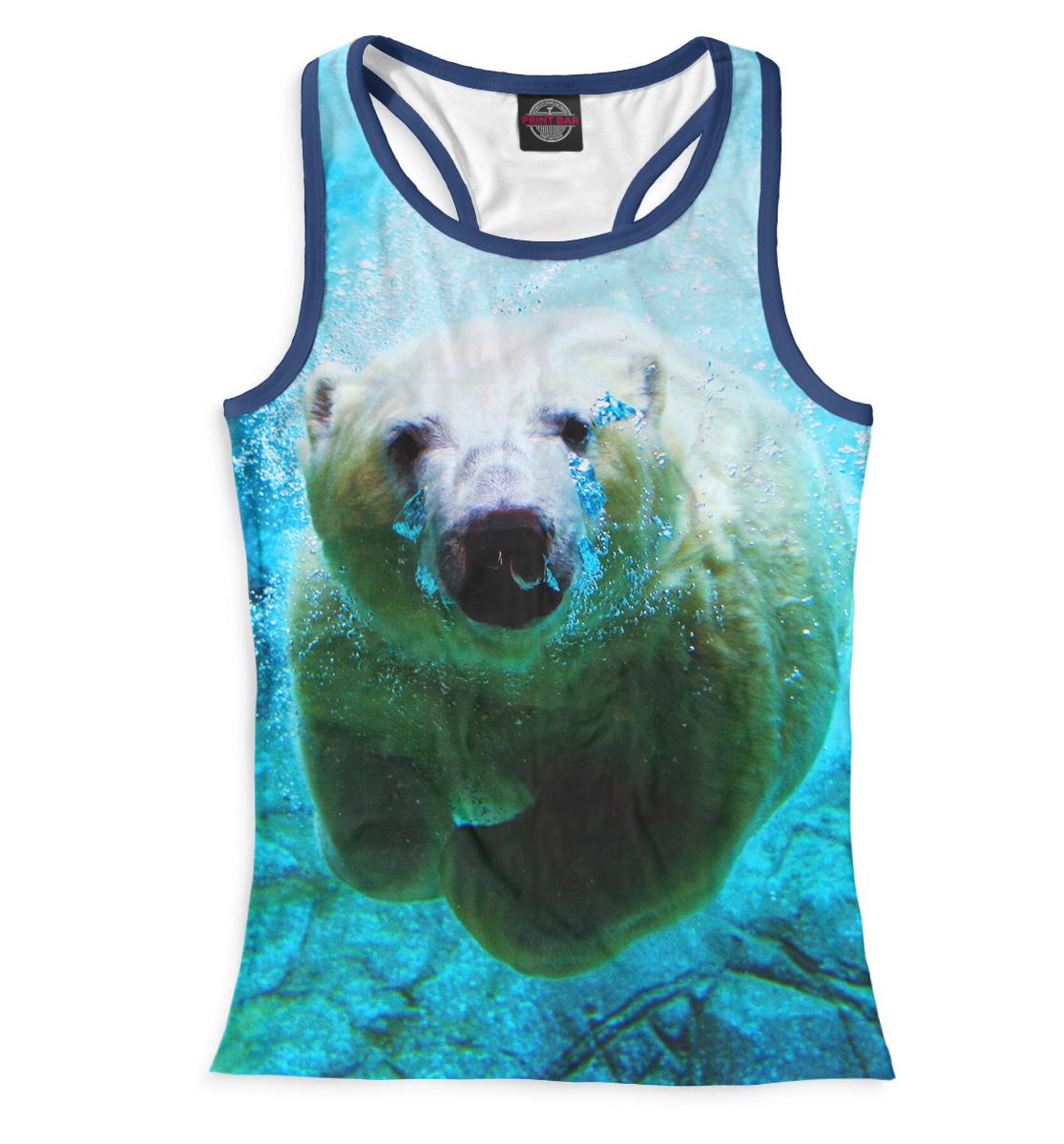 Купить Белый медведь под водой, Printbar, Майки борцовки, MED-880953-mayb-1