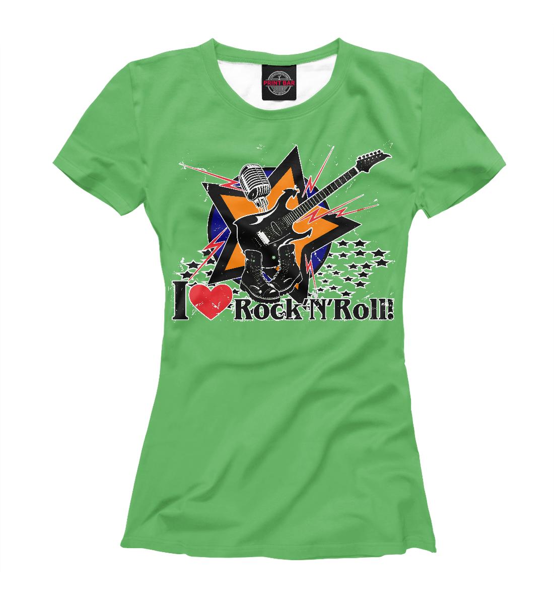 Купить I love Rock-n-nRoll, Printbar, Футболки, RCK-265320-fut-1