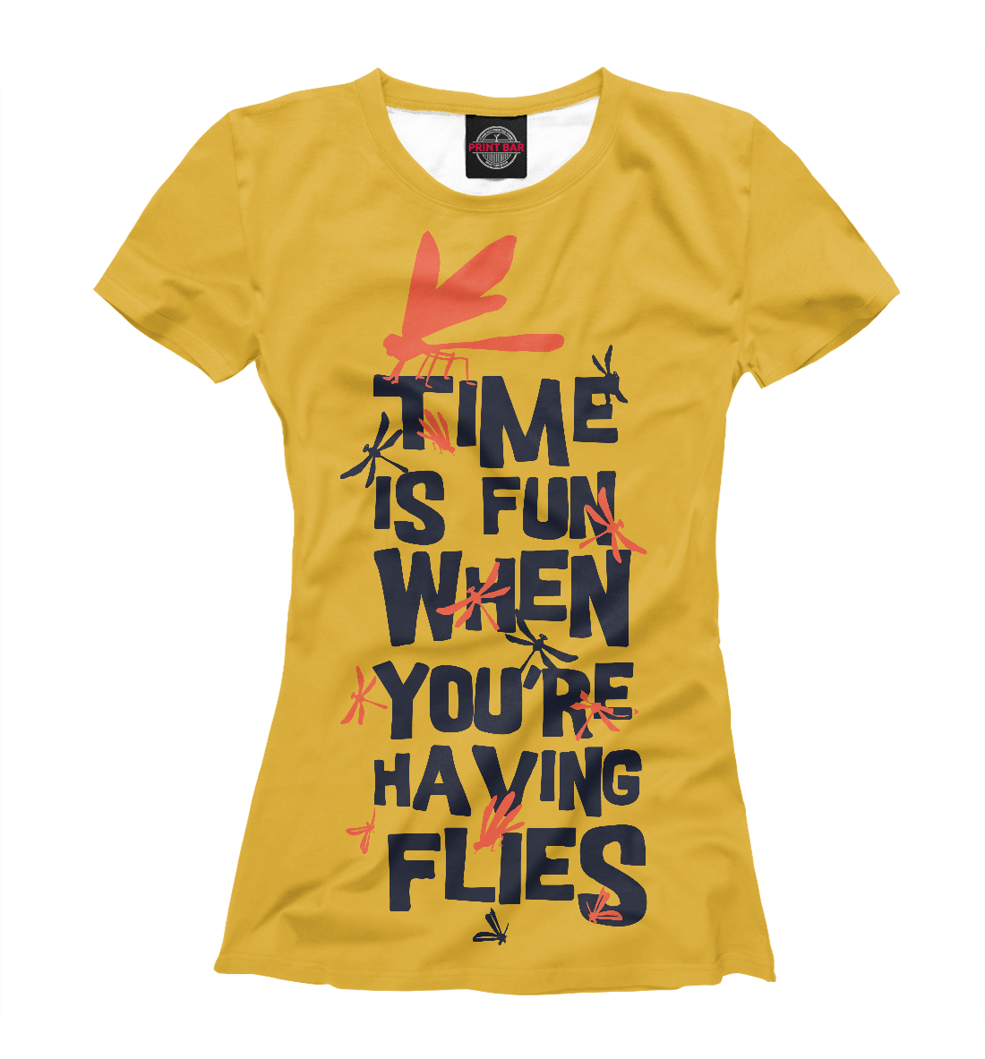 Купить Time is fun when youre having flies, Printbar, Футболки, NAS-579644-fut-1